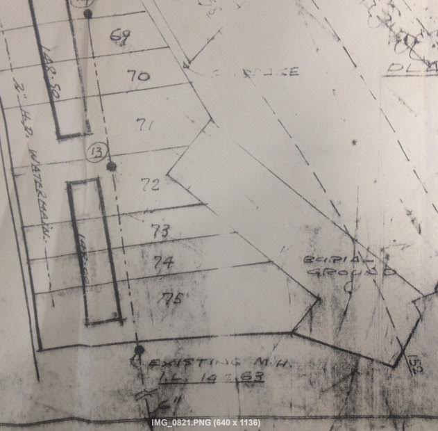 1971/2 Council Archival Map showing full extent of burial ground