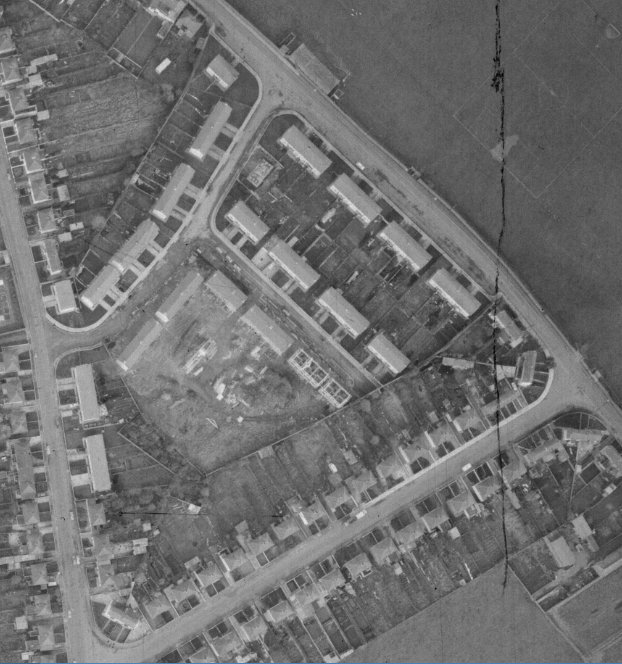 Site of former Mother & Baby Home, aerial shot 1970s