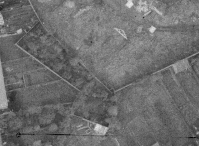 Mother & Baby Home burial site aerial shot, 1970s